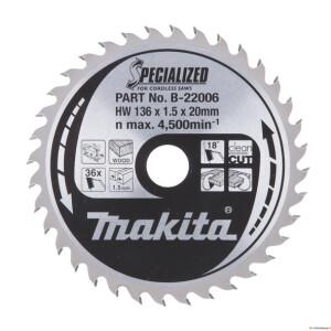 Saeketas Makita 136x20x1,5mm 36T 20° DSS501