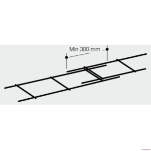 Müürivõrk(vuugisarrus) 4/155/200/3000 mm