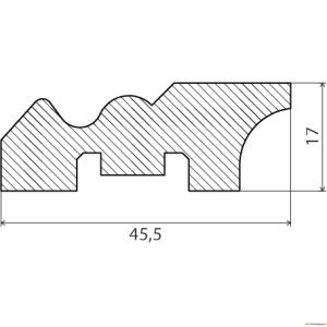 Põrandaliist 19x47mm 2,7m MÄND [6]