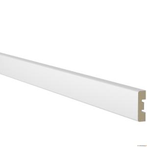 Uksepiirdeliist 12x42mm MDF VALGE komplekt 5,5m.