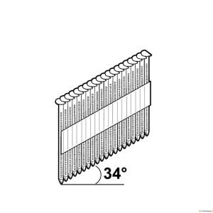 Püstolinael 2,8x50 täk/liim D-pea 34° Essve[2200]