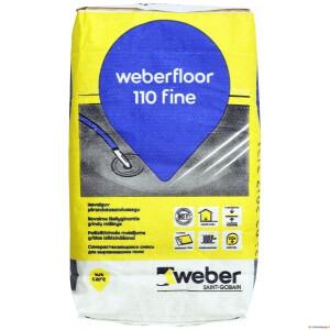 Isevalguv põrandasegu weber.floor 110 FINE, 20 kg [48]