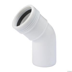 Kan.põlv 32x15° valge PP (S14) Pipelife 70001056