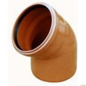 Kan.põlv 110x45° vk  Wavin oranž  PVC (EN1401)