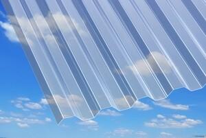 PVC Laineplaat Trapets 70/18 900x2000mm kirgas