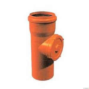 Kan.puhastusluuk 110 vk Wavin oranž  PVC (EN1401)